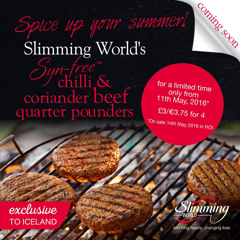 Slimming World's Chilli and Coriander Beef Quarter Pounders