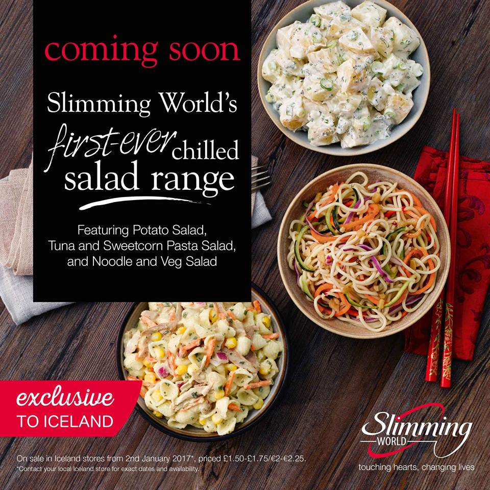 Slimming World Salads – Brand New Chilled Food Range coming to Iceland Stores