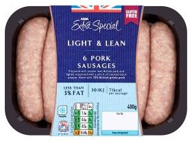 ASDA Extra Special Light and Lean Pork Sausages – Syn Values